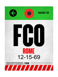 NaxArt - FCO Rome Luggage Tag 1 - Poster