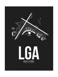 LGA New York Airport Black Poster by  NaxArt