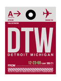 DTW Detroit Luggage Tag 1 Art by  NaxArt