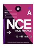 NCE Nice Luggage Tag 1 Posters by  NaxArt