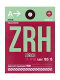 ZRH Zurich Luggage Tag 2 Art by  NaxArt