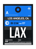 LAX Los Angeles Luggage Tag 3 Póster por NaxArt