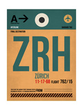ZRH Zurich Luggage Tag 1 Poster by  NaxArt