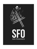 SFO San Francisco Airport Black Posters by  NaxArt