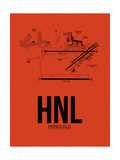 HNL Honolulu Airport Orange Prints by  NaxArt