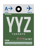 YYZ Toronto Luggage Tag 1 Poster by  NaxArt
