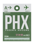 PHX Phoenix Luggage Tag 1 Posters by  NaxArt