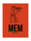 MEM Memphis Airport Orange Prints by  NaxArt