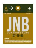 JNB Johannesburg Luggage Tag 1 Print by  NaxArt