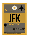 JFK New York Luggage Tag 3 Prints by  NaxArt