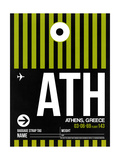 ATH Athens Luggage Tag 2 Prints by  NaxArt
