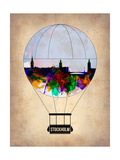 Stockholm Air Balloon Prints by  NaxArt