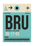 BRU Brussels Luggage Tag 1 Poster by  NaxArt