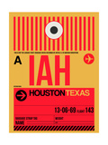 IAH Houston Luggage Tag 1 Prints by  NaxArt