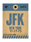 JFK New York Luggage Tag 2 Poster by  NaxArt