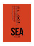 SEA Seattle Airport Orange Prints by  NaxArt