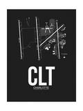 CLT Charlotte Airport Black Plakaty autor NaxArt