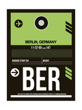BER Berlin Luggage Tag 2 Prints by  NaxArt