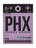 PHX Phoenix Luggage Tag 1 Prints by  NaxArt