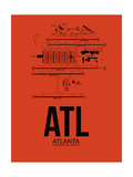 ATL Atlanta Airport Orange Posters by  NaxArt