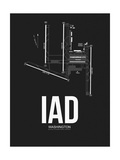 IAD Washington Airport Black Posters by  NaxArt