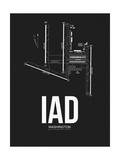 IAD Washington Airport Black Posters by  NaxArt