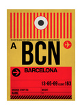 BCN Barcelona Luggage Tag 1 Poster by  NaxArt