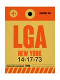 LGA New York Luggage Tag 1 Prints by  NaxArt