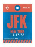 JFK New York Luggage Tag 1 Sztuka autor NaxArt