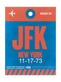 JFK New York Luggage Tag 1 Art by  NaxArt