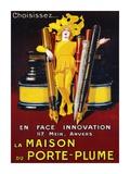 La Maison du Porte-Plume, 1924 Affischer av Jean D'Ylen