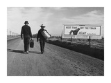 Men carrying suitcases to Los Angeles, 1937 (detail) Posters by Dorothea Lange