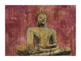 Golden Buddha Print by Dario Moschetta