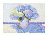 Summer Hydrangeas Print by Gail Wells
