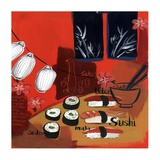 Sushi lanterns Prints by Krista Johnson