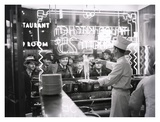 A cook preparing spaghetti, Broadway, New York City, 1937 Print
