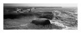 Phare des Poulains lors d'une Tempete Kunstdruck von Jean Guichard