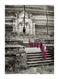 Walking up to Mingun Temple, Burma Poster by Scott Stulberg