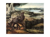 Landscape with Saint Giclee Print by Joachim Patinir