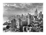 East River Waterfront and Manhattan, 1931 Prints by Samuel Gottscho