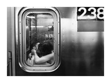 Kissing in a Subway Car Prints by Matthew Alan