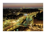 Overlooking Paris at Night Prints by Michel Setboun