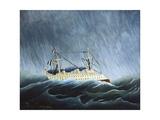 The Storm-Tossed Vessel Poster af Henri Rousseau