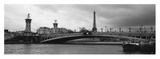 Pont Alexandre III and Eiffel Tower Print by Murat Taner