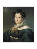 Maria Christina De Bourbon-Sicily, Queen of Spain Giclee Print by Vicente Lopez y Portana