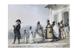 Government Employee with His Family Giclee Print by Jean Baptiste Debret
