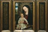 Virgin and Child Holding a Pear Poster von Rogier van der Weyden