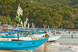 Outrigger Fishing Boats on West Beach of the Isthmus at This Major Beach Resort on the South Coast Photographic Print by Rob Francis