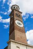 Torre Dei Lamberti, Piazza Delle Erbe, Verona, UNESCO World Heritage Site, Veneto, Italy, Europe Photographic Print by Nico Tondini