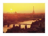 Paris Sunrise Over the Seine Prints by Paul Hardy